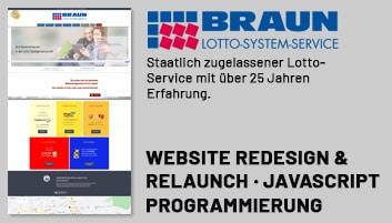 Kunde unserer Internetagentur - Braun Lotto System Service