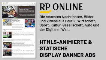 Display Ads (Online Werbebanner) Erstellung für rp-online.de