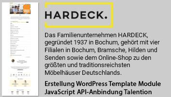Foto zeigt Informationen über Hardeck Karriereportal